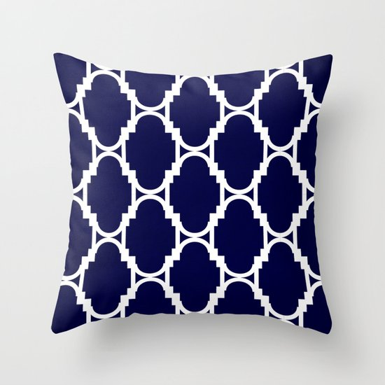 Pillow Talk- Navy Throw Pillow