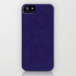 MANDALA BLUE GLOJG iPhone Case