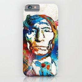 Native American Art - Warrior - By Sharon Cummings iPhone Case