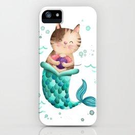 Purrmaid Illustration iPhone Case