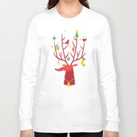 reindeer Long Sleeve T-shirts featuring Reindeer by Wharton