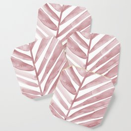 Pink Palm Leaf Crop Coaster