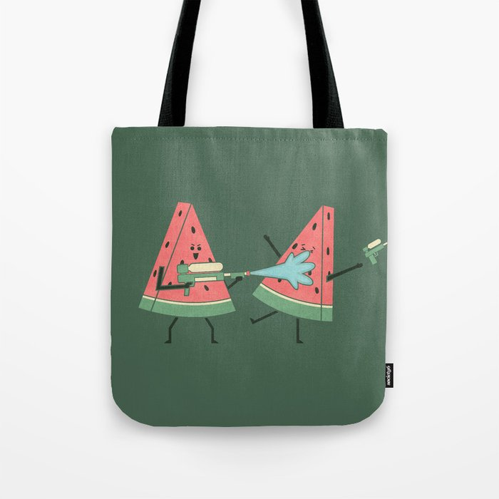 Water Fight Tote Bag