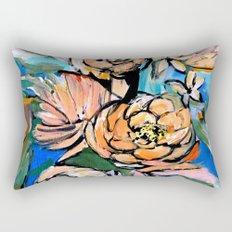 Vibrant Floral Rectangular Pillow