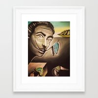 salvador dali Framed Art Prints featuring Salvador Dali by Kimberly Faye