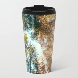 California Redwoods Sun-rays and Sky Travel Mug