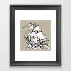 The Breaker Framed Art Print