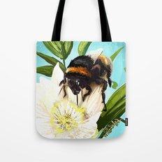 Bee on flower 5 Tote Bag