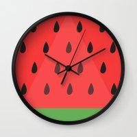 Watermelon Slice Wall Clock