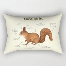 Anatomy of a Squirrel Rectangular Pillow