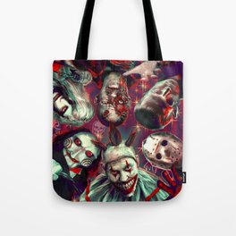 Twisty Jigsaw Jason Voorhees Terminator Psychedelic Spook Show Tote Bag