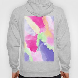 Modern bright pink purple green hand painted watercolor wash pattern Hoody