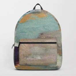 Gentle Beauty [5] - an elegant acrylic piece in deep purple, red, gold, and white Backpack
