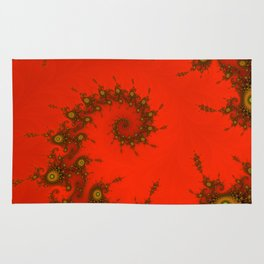 Red fractal. Abstract pattern Rug
