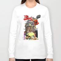 calcifer Long Sleeve T-shirts featuring Studio of Dreams by CromMorc