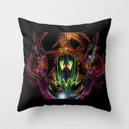 Art Deco Birds of Paradise Throw Pillow