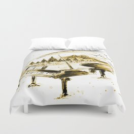 Vintage piano Duvet Cover