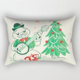 Vintage Snowman Rectangular Pillow