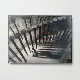 House Disaster Art - Fenced In Metal Print