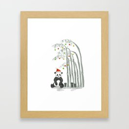 Christmas Panda Framed Art Print