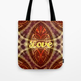 Tribal Geometry Love (earthy) Tote Bag