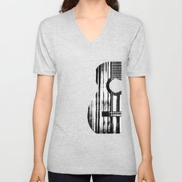 Acoustic Guitar Music Player Musician Guitarist Rock Unisex V-Neck