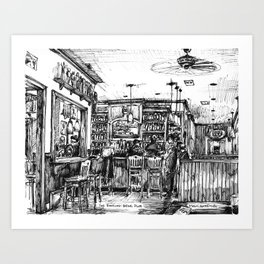 The Dancing Bear Pub Art Print