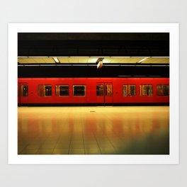 Metro in Helsinki Art Print