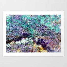 amethyst stone texture Art Print