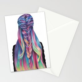 Hair illustration Stationery Cards