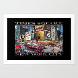 Times Square II (widescreen on black) Art Print
