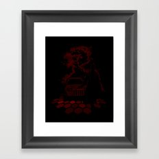 He Always Cheats Framed Art Print