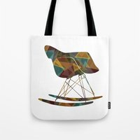eames Tote Bags featuring Eames Rocker by MoMo