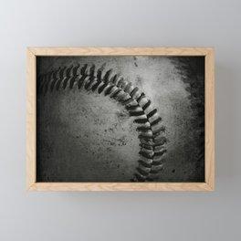 Black and white Baseball Framed Mini Art Print