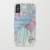 hot air balloon iPhone & iPod Cases featuring Hot air balloon party by Dreamy Me