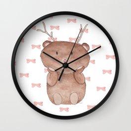 Christmas Reinbear Wall Clock