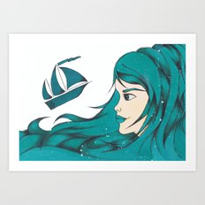 Poseidon Goddess of the Sea Art Print