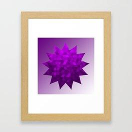 Kwan Yin's Star   Purple Flame   Compassion Framed Art Print