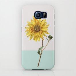 Sunflower Mid Century Botanical iPhone Case