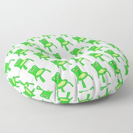 everybody loves froggy chair pattern  Floor Pillow