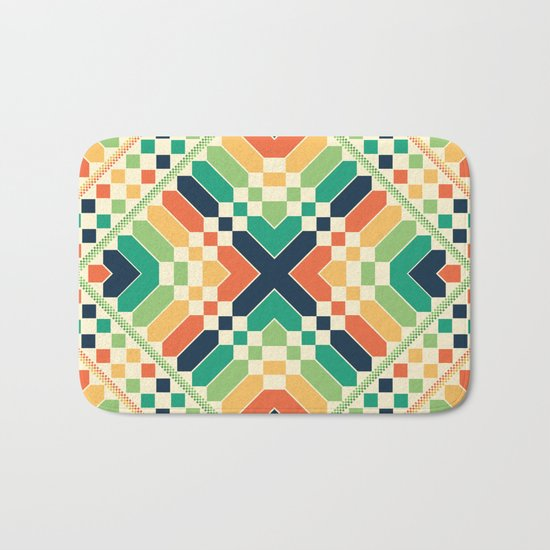 Retrographic Bath Mat