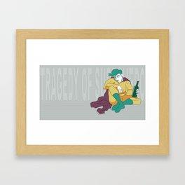 superhero´s tragedy Framed Art Print