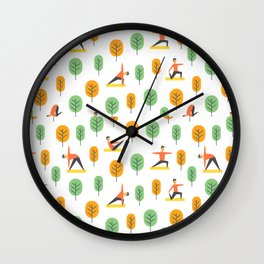 Yoga Pattern | Yoga Namaste Health Meditation Yogi Wall Clock