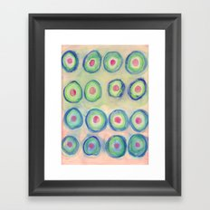 Bullseye Pattern Framed Art Print