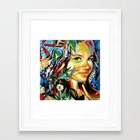 cassandra jean Framed Art Prints featuring Cassandra by Phil Fung