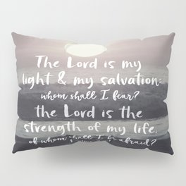 Ocean Sunrise with Psalms Light Salvation Bible Verse Pillow Sham