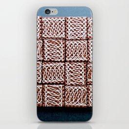 Chocolate Wafer Mosaic iPhone Skin
