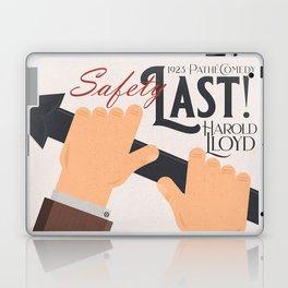 Safety Last!, Harold Lloyd movie poster, Hal Roach, 1923 film illustration Laptop & iPad Skin