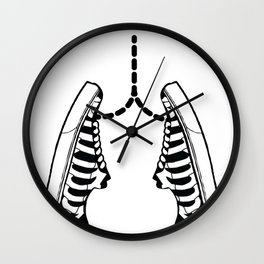 Lungs shoes ribs icon skeleton gift Wall Clock