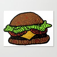 hamburger Canvas Prints featuring Hamburger by nsvtwork